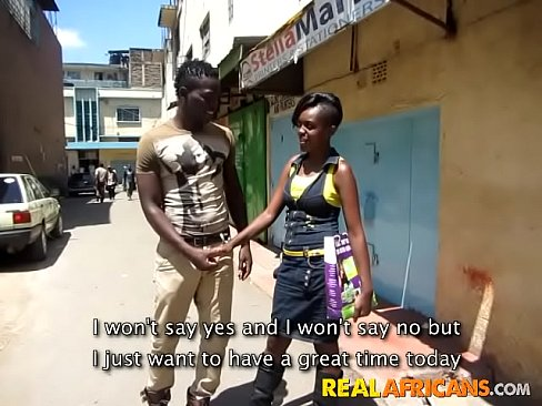 Real African Amateur Slut Street Pickup and Toilet Fuck