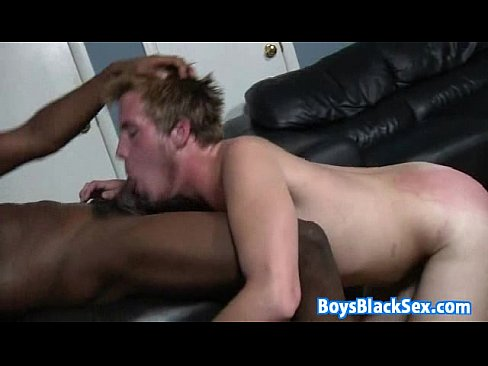 White gay gets ass black nailed
