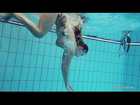 Underwater nude naked swimming pussy girl