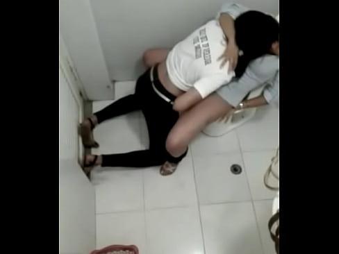 Lesbian in bathroom