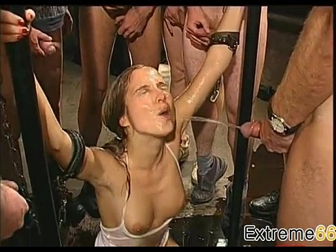 Dangerous German Whore Gets Group Piss Bath