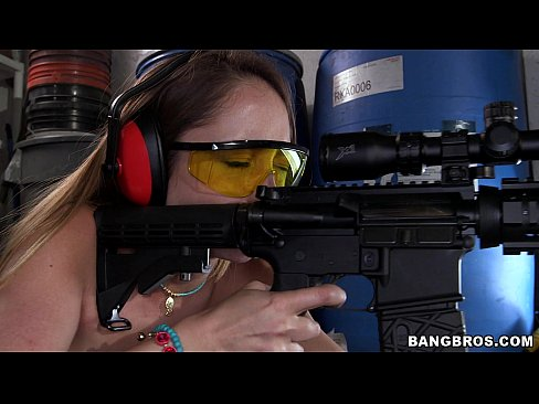 Remy LaCroix Shooting Guns