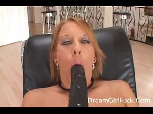 Hot blonde sucking black cock