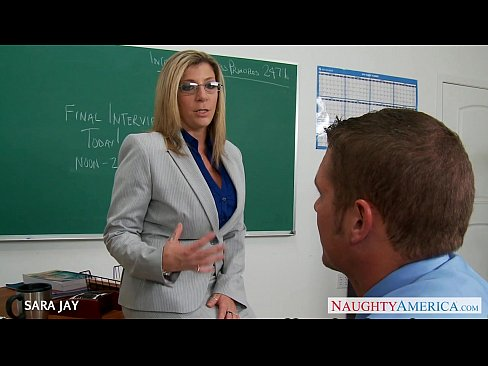 Blonde milf teacher principal and a hot student