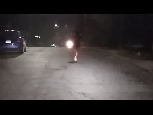 Prostitute takes a naked night stroll in Raleigh's Thumb