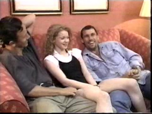Three some in couch