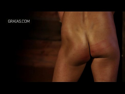 fit girl's firm butt caned