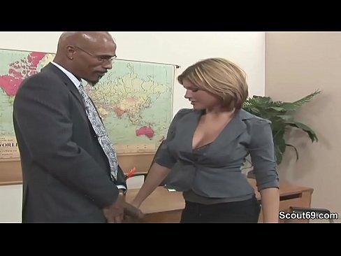 Milf seduces huge cock