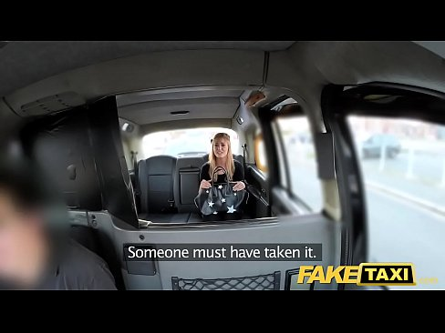 Fake Taxi Petite blonde in pull up stockings