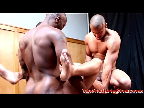 Black ripped studs assfucking in fourway
