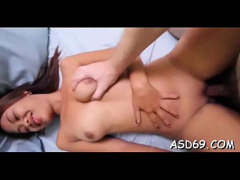 Asian girl widens legs for a fuck