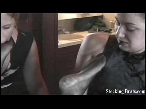 we love sucking each other in fishnets