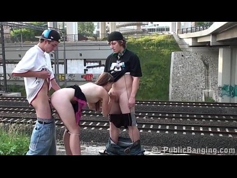 very cute young teen public gangbang