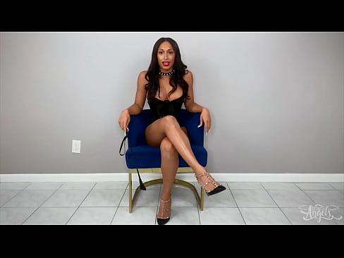 busty ts miss (Jasmine Lotus) strips and masturbating alone - TransAngels
