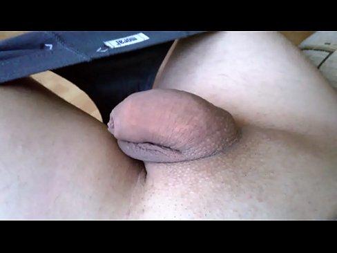 My penis morning masturbation with cum's Thumb