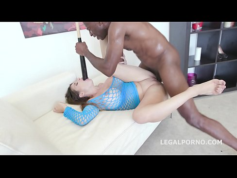 Nonstop interracial ass fucking gapes milf Cathy Heaven's pussy and asshole