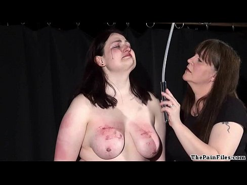 Tied up busty sub darling tormented