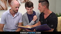 Dad And Uncle Threesome With Stepson After Read
