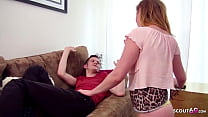 GINGER STEP SISTER PARIS TRICKED BROTHER TO FUCK WHEN ALONE