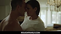 Angry Stepmom Got Calm after Son Cums in Her Pu...