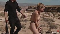 BF Whips Gf And College Babe In Desert