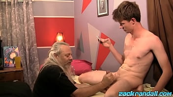 Young amateur Aidan Young massaged by mature gay man JS Wild