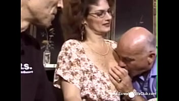 Redhead With Glasses Swinger Sex Is Rough Making Love