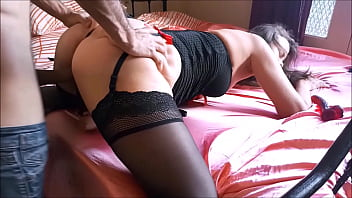 T&A 703 (02) - Fuck, French Dirty talk, POV, Clothed-sex in satin lingerie, heels, doggystyle, and blowjob