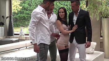 All-Natural Russian Lilu Moon Gets Her Ass TRIPLE TEAMED At Her Own Wedding!
