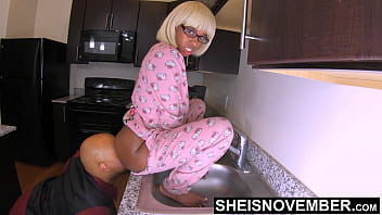 Shut Up And Eat My Ass Step Dad, Sheisnovember Ebony Face Sitting Closeup Ass Worship Licking Asshole Of Fat Booty Curvy Cheeks On Kitchen Sink Eating Butt Out While Arching Back With Pajamas Unbuttoned by Msnovember & JDG Pornart