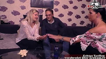 German Housewife Couple meet sex counselor for threesome ffm