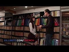 Anal sex at the library with beautiful teen